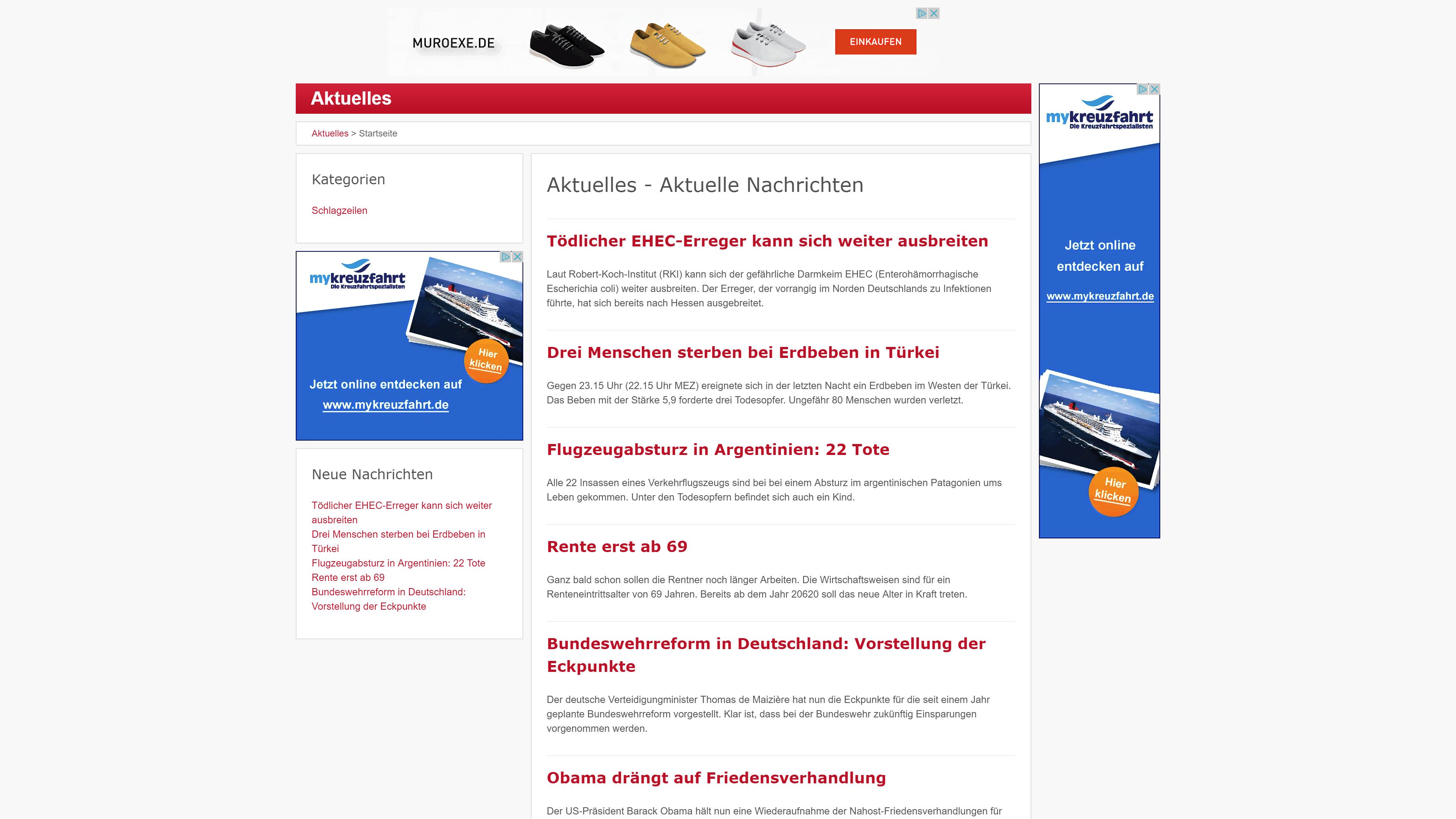 Nachrichtenportal Aktuelles.net