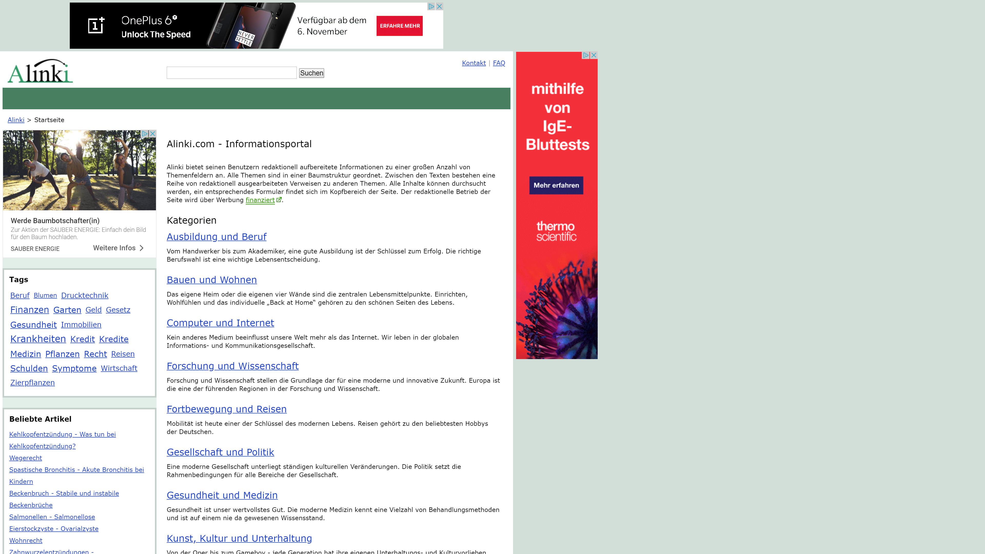 Informationsportal Alinki.com
