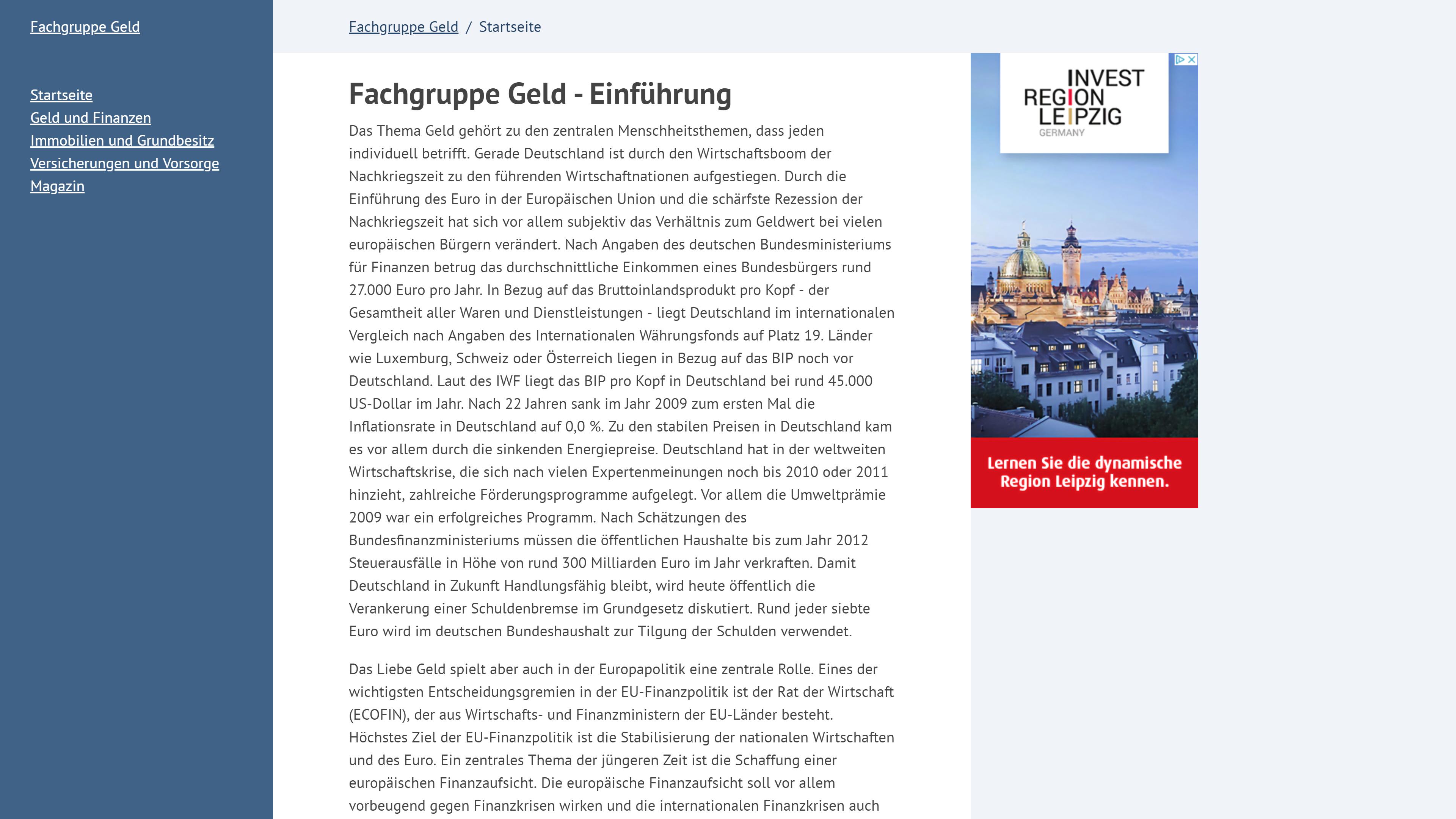 Finanzportal Fachgruppe-Geld.de