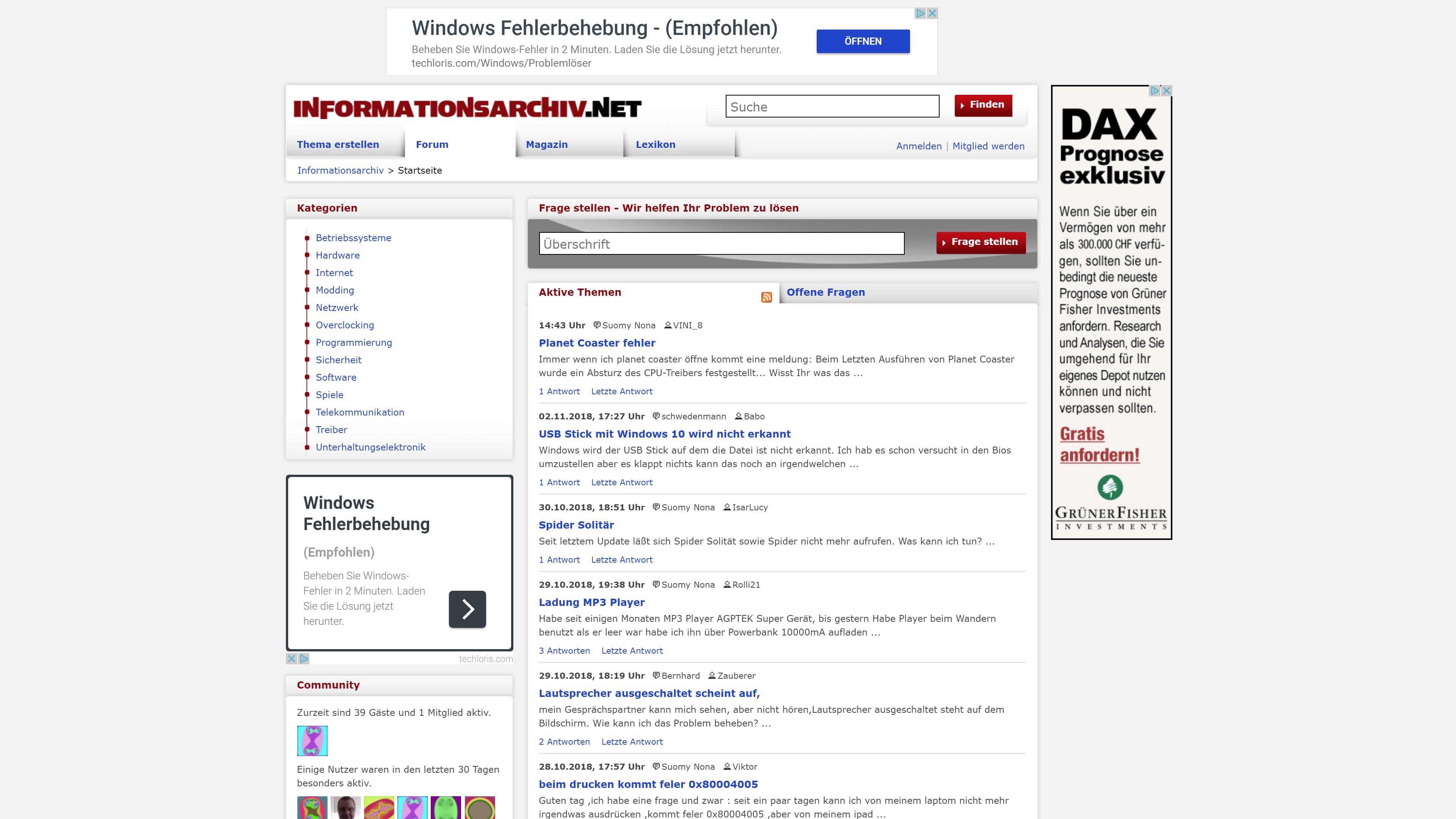 Computer- und Technik-Portal Informationsarchiv.net